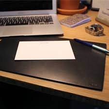 Black Leather Desk Mat Leather Desk Pad Black Boarding Pass Nyc