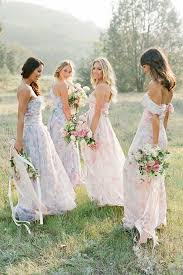 floral bridesmaid dresses floral bridesmaid dresses six lovely ideas from blogs