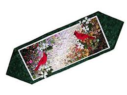 whims watercolor quilt kits cardinal table runner