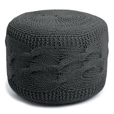 knitted pouf ottoman target knitted pouf ottoman exports cable knit pouf ottoman in charcoal