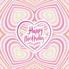 happy birthday card pink abstract background optical illusion