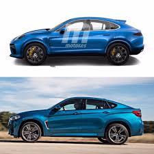 porsche cayenne models comparison photo comparison porsche cayenne coupe render vs bmw x6