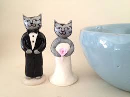 elegant cats wedding cake topper cat wedding by mermaidtoorder