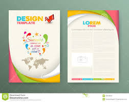design flyer layout brochure flyer design layout template with success stock vector