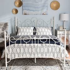 Antique White Metal Bed Frame Wholesale Size Bed Wholesale Bedroom Furniture Wholesale