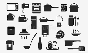 vaisselle de cuisine web d appareils électroménagers d icônes de vaisselle de cuisine
