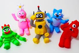 meet yo gabba gabba friends easy play doh figure toy creations