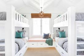 House Bunk Beds Window Seat Between Built In Bunk Beds Cottage Closet