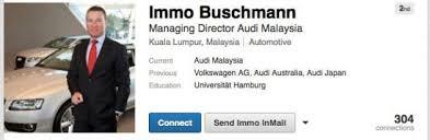 audi australia ceo audi malaysia gets its md immo buschmann