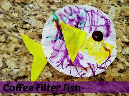 easy kids craft adorable coffee filter fish penney lane