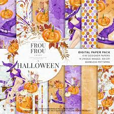 halloween background papers halloween scrapbook halloween paper pack autum fall background