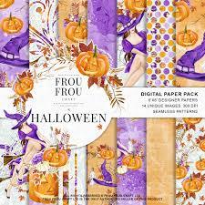 halloween background patterns halloween scrapbook halloween paper pack autum fall background