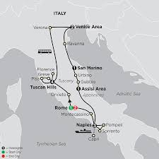 Tuscany Italy Map Italy Tours Cosmos Affordable Tour Packages
