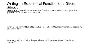 skill 14 applying exponential functions to real world scenarios