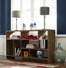 rustic reclaimed wood room divider console zin home