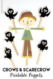 scarecrow craft u0026 crow printable puppets consumer crafts