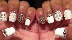 matte white u0026 rose gold acrylic nails youtube