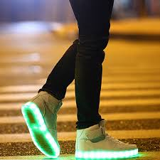 size 5 light up shoes light up shoes for adults high top big size unisex male new