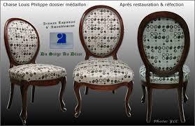 tapissier siege chaise médaillon louis philippe du siège au décor tapissier d