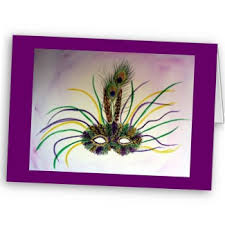 mardi gras feather mask carnival painting