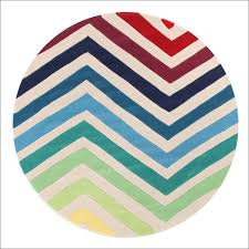 Round Colourful Rugs by Chevron Multi Coloured Round Rug U2013 Rugs Of Beauty