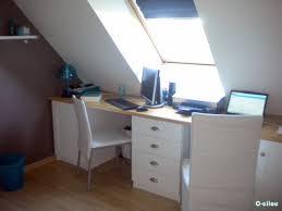 bureau sous pente déco taupe et bleu pour un bureau d amoureux c cilou et ses loulous
