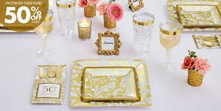 confirmation party supplies golden 50th wedding anniversary party supplies 50th anniversary