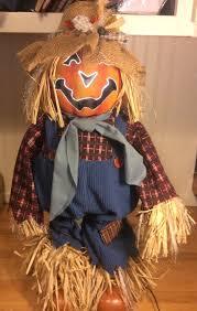 fiber optic halloween pumpkin decorations halloween scarecrow decorative color changing fiber optic jack o