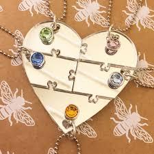 best friends puzzle necklace images Best friends 5 piece puzzle heart necklace set bff sisters jpg