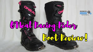 oneal element motocross boots o u0027neal racing rider women u0027s boots product review youtube
