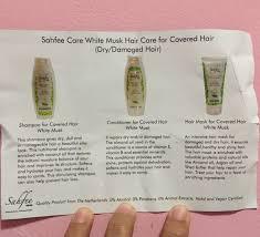 Shampoo For Dry Hair And Hair Loss 3 Review Sahfee Halal Shampoo Products Nura Ahmad