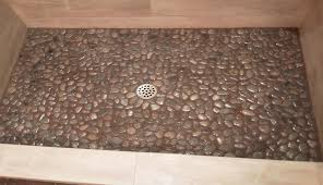 attractive cobblestone flooring with beige color design suitable