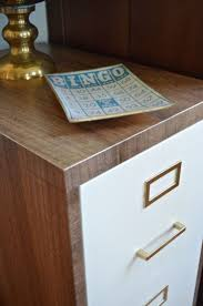 Contact Paper Desk Makeover File Cabinet Bench Best Home Furniture Decoration
