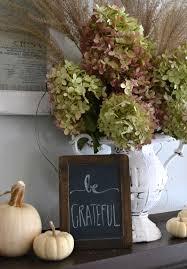 diy fall mantel ideas hydrangea mantle and thanksgiving
