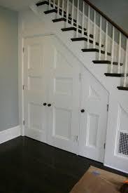 under stair closet closet doors doors and basements