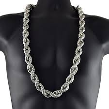 black rope chain necklace images 20mm 36 quot silver tone rope chain rope chains jpg