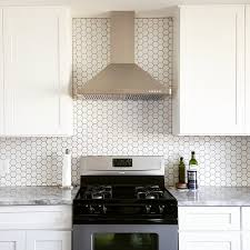 Bright White Kitchen With A Plain And Simple Backsplash Hex - Simple backsplash
