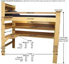 ana white double loft bed diy projects drawer wood slides