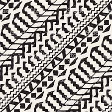 painted seamless pattern vector tribal design