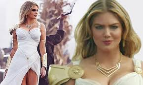 who is the blonde in the game of heroes commercial kate upton dresses as a very sexy athena in new advert for game of