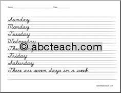cursive handwriting practice lesson combination letters lots