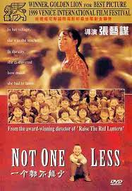 not one less 1999 china dir by zhang yimou i love this film