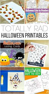 printable halloween sheets totally rad halloween printables for kids