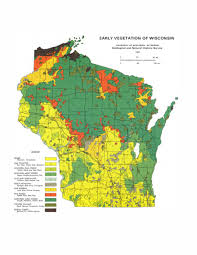Map Of Wi Wisconsin Geological U0026 Natural History Survey Early Vegetation