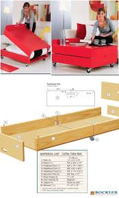 diy folding train table convertible coffee table and folding bed project convertible