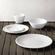 lunea melamine white dinnerware crate and barrel