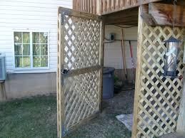 lattice door under deck home pinterest house plans 6697