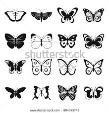 butterfly icons set simple illustration 16 stock vector 504345748
