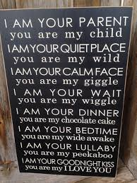 i am your parent you are my child home decor wooden sign with