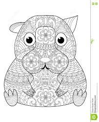 Vecteur De Livre De Coloriage De Hamster Pour Des Adultes